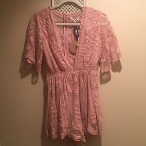 Lace Blush Romper